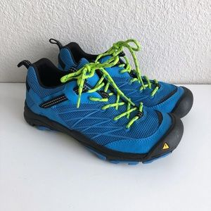 Keen Women's Marshall Hiking Shoes Size 7 Swedish Blue Lime Green Trail Sneakers